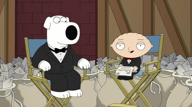 Brian (l.) und Stewie (r.) beschäftigen sich mit den wichtigsten Fan-Fragen ....