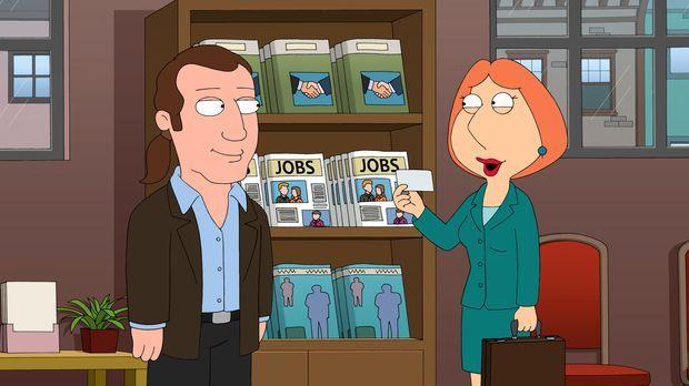 Um die Familienkasse aufzubessern, nimmt Lois (r.) heimlich einen Job bei ein...
