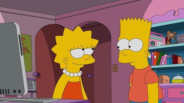 Während Lisa (l.) versucht, das Image der ersten Erfinderin Springfields wied...