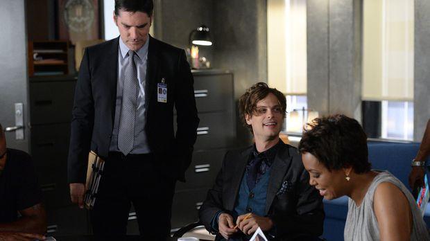 Ein neuer Fall wartet auf Tara (Aisha Tyler, r.), Reid (Matthew Gray, M.) und...