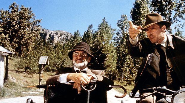 Zwischen Henry Jones (Sean Connery, l.) und
