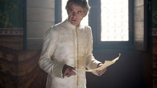 Von den Beweisen überzeugt, entlässt Papst Alexander (Jeremy Irons) die veran...