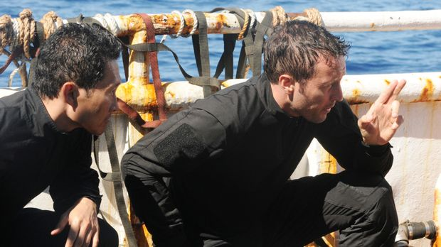 Ein neuer Fall wartet auf das Team: Steve (Alex O'Loughlin, r.) und Chin (Dan...