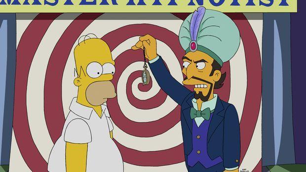 Die Hypnose sollte Homer (l.) länger bleiben, als es ihm und seiner Familie l...