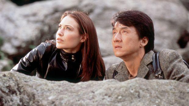 Detective Eddie Yang (Jackie Chan, r.) und Nicole James (Claire Forlani, l.)...