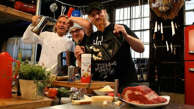 Kochen mit Knall: Stefan Marquard und Frank Buchholz experimentieren mit Kaff...
