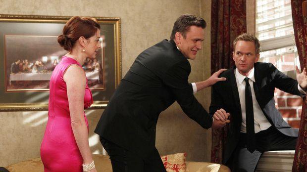 Die Hochzeit von Barney (Neil Patrick Harris, r.) und Quinn steht bevor. Mars...