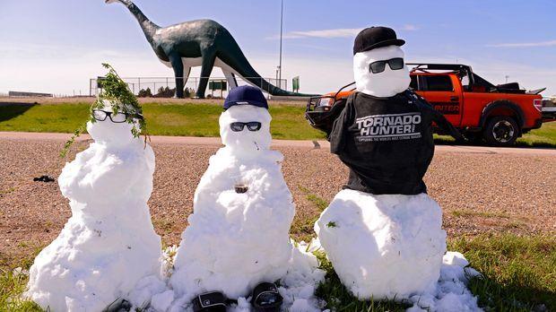 Die Tornado Hunter mal anders: (v.l.n.r.) Greg, Chris und Ricky ...