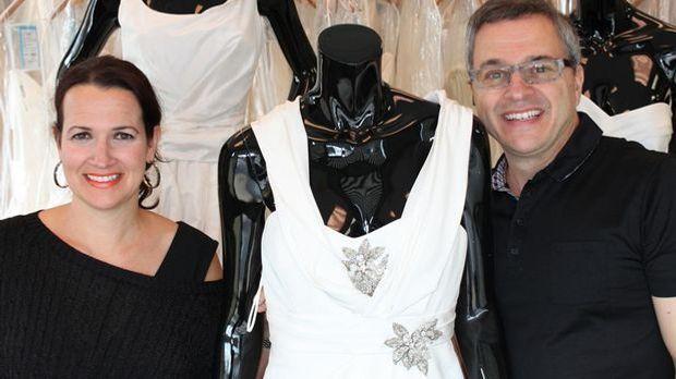 Rick und Leslie DeAngelo besitzen einen Brautkleid-Discounter-Laden
