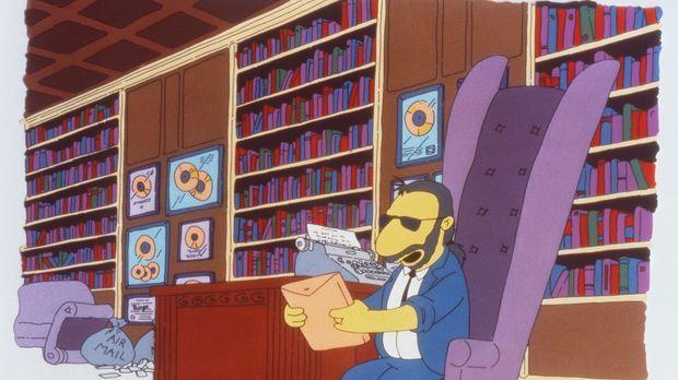 Ringo Starr ist völlig begeistert von Marges  Zeichentalent. Ihr Porträt des...