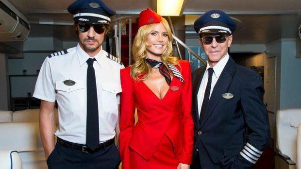Germany's next Topmodel Jury Flugzeug