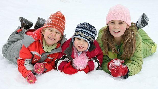 Kinder im Schnee 2014