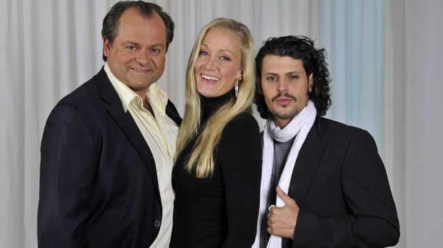 (v.l.n.r.): Markus Majowski, Janine Kunze und Manuel Cortez sind
