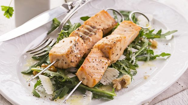 RdT Lachs auf Salat