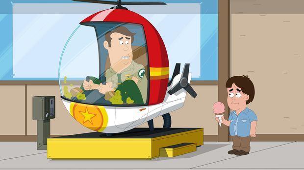 Die armen Leute im Park nerven Woody. Steve (l.) soll sie mit einem Helikopte...