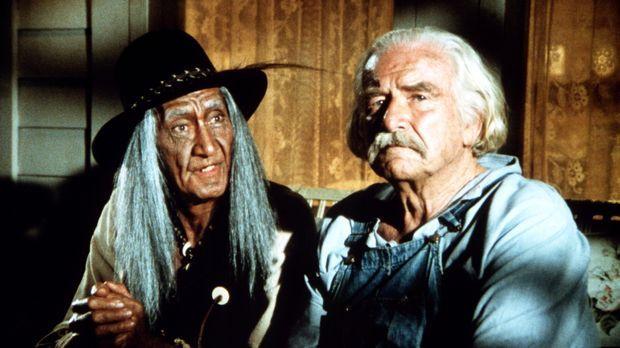 Joseph (Jerado De Cordovier, l.) und Sam (Will Geer, r.) entdecken, dass sie...