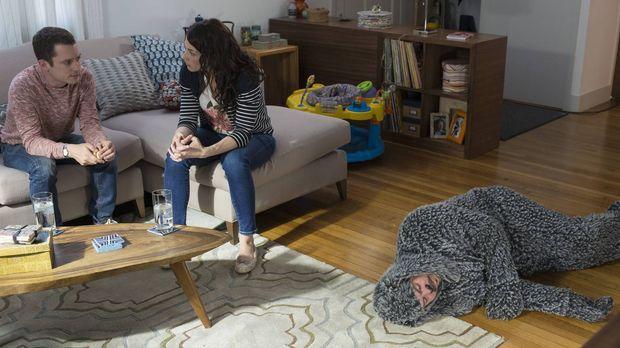 Wird Kristen (Dorian Brown, M.) ihren Bruder Ryan (Elijah Wood, l.) vor Wilfr...