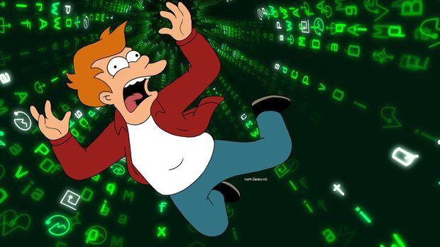 Fry ist traurig: Er hat das Gefühl, dass Professor Farnsworth - sein einziger...