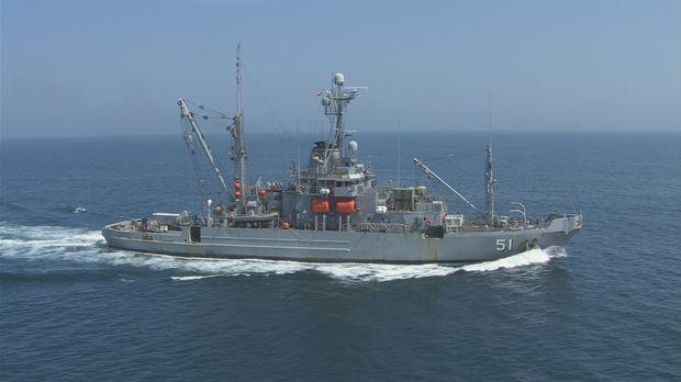 Rettungsanker: Die USNS Grasp wird zur Bergung von abgestürzten Flugzeugen, S...