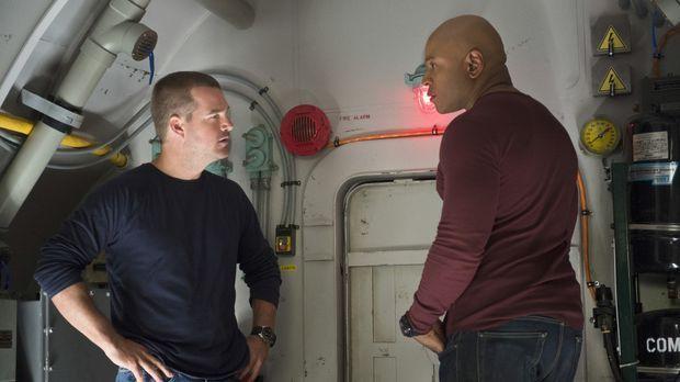 Die Special Agents Callen (Chris O'Donnell, l.) und Sam (LL Cool J, r.) befin...