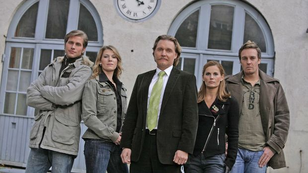Ingo Lenßen (M.) und sein Team: Sebastian Thiele (l.), Katja Hansen (2.v.l.),...