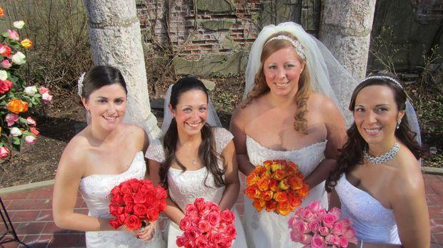 Jede Braut setzt andere Prioritäten: Lauren (l.), Christina (2.v.l.), Jamie (...