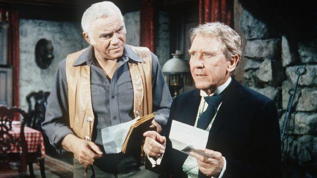 Ownie Dugan (Burgess Meredith, r.) bittet seinen Freund Ben Cartwright (Lorne...