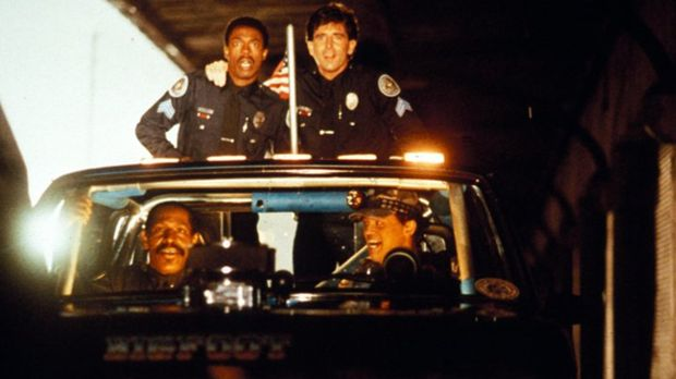 Das irre Police Academy-Team: Sergeant Larvell Jones (Michael Winslow, oben l...