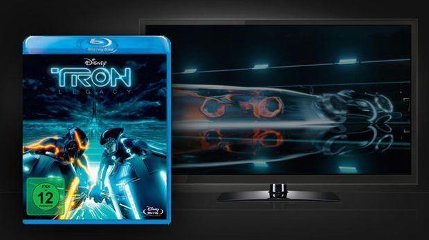 Tron Legacy - DVD-Cover und Szenenbild
