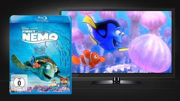 Findet Nemo Blu-ray und Szenenbild © Walt Disney Studios Home Entertainment
