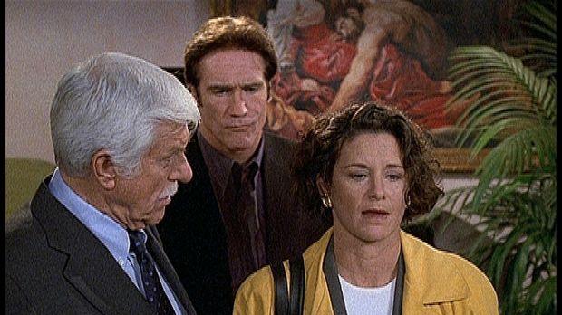 Mark (Dick Van Dyke, l.) und Steve (Barry Van Dyke, M.) begegnen Vanessa (Ste...