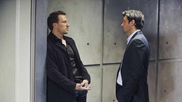 Derek (Patrick Dempsey, r.) und Owen (Kevin McKidd, l.) nehmen sich vor, Mere...