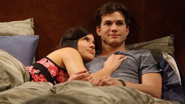 Walden (Ashton Kutcher, r.) ist enttäuscht, dass zwischen ihm und Zoey (Sophi...