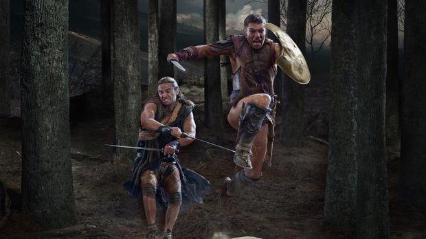 Stellen sich den Römern in einem gnadenlosen Kampf: Spartacus (Liam McIntyre,...