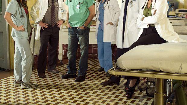 (15. Staffel) - Das Team der Notaufnahme: Dr. Morris (Scott Grimes, 2.v.l.),...