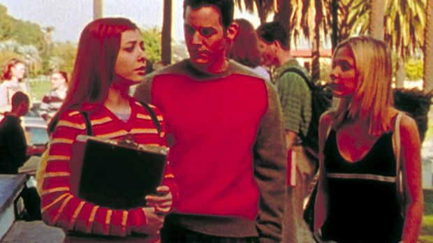 Willow (Alyson Hannigan, l.), Xander (Nicholas Brendon, M.) und Buffy (Sarah...