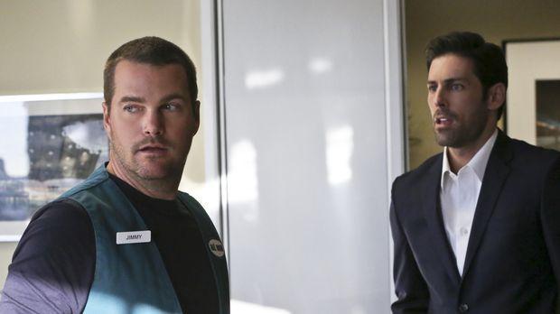 Bei undercover Ermittlungen gerät Callen (Chris O'Donnell, l.) mit Tom Blanch...