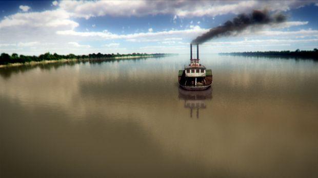 Durch den Einsatz von Dampfschiffen auf dem Mississippi wird der Mittlere Wes...
