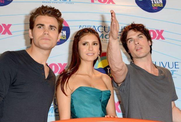 Ian Somerhalder, Nina Dobrev und Paul Wesley aus Vampire Diaries bei den Teen...