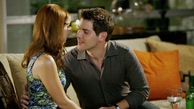 Das Date mit Jacob (David Giuntoli, r.) verläuft für Megan (Joanna Garcia, l....