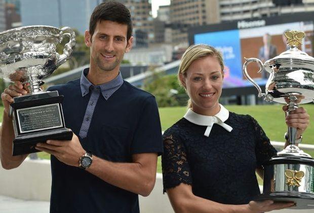 Die Titelverteidiger: Angelique Kerber und Novak Djokovic