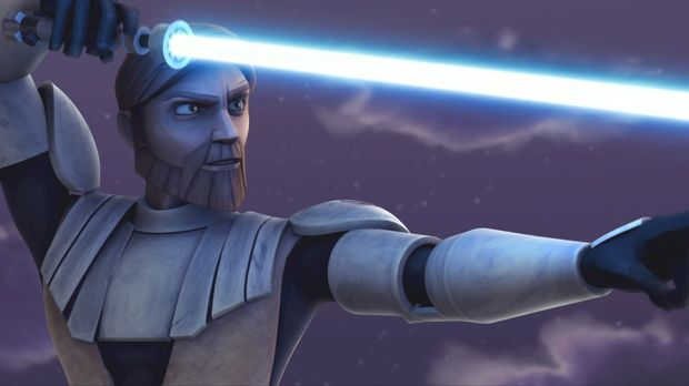 Riskiert Kopf und Kragen: Obi-Wan Kenobi ... © 2008   Warner Bros. Internatio...