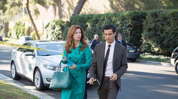 Megans (Dana Delany, l.) Ex-Lover Tommy wird des Mordes verdächtigt. Zusammen...