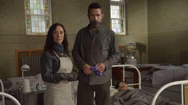Kann Alan (Billy Campbell, r.) Schwester Anne (Severn Thompson, l.) davon übe...
