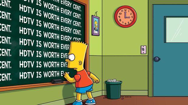 Mal wieder muss Bart eine Strafaufgabe machen ... © und TM Twentieth Century...