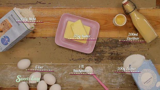 Mit diesen Zutaten gelingt der Eierlikörkuchen garantiert.