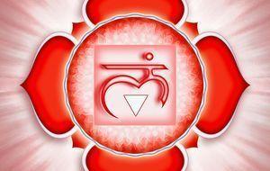 So sieht das Symbol für das Wurzelchakra aus.