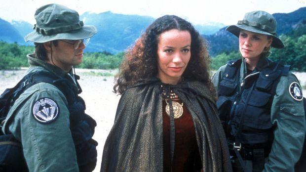 Auf der Suche nach Alliierten reisen Daniel (Michael Shanks, l.), Sam (Amanda...