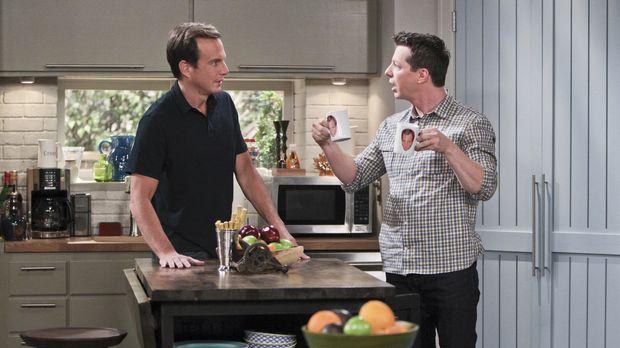 Während Debbie und Adam ihr Café aufgeben wollen, versucht Kip (Sean Hayes, r...