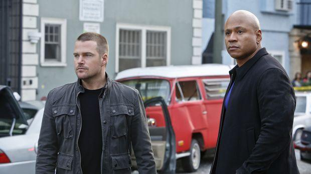 Callen (Chris O'Donnell, l.) macht sich Sorgen, dass Sam (LL Cool J, r.) pers...